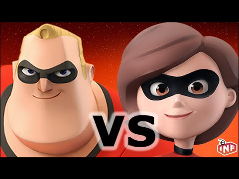 Mr Incredible vs Mrs Incredible sarlacc pit arena fight Disney Infinity toy box