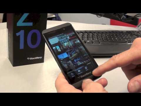 Blackberry Z10 il sistema operativo