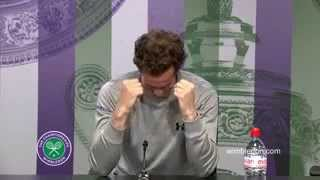Andy Murray reacts to brother