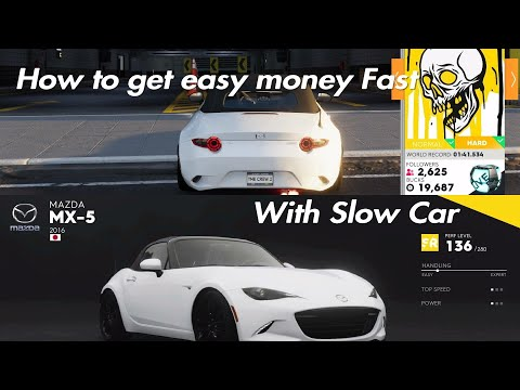 The Crew 2 how to get easy money Fast with slow car