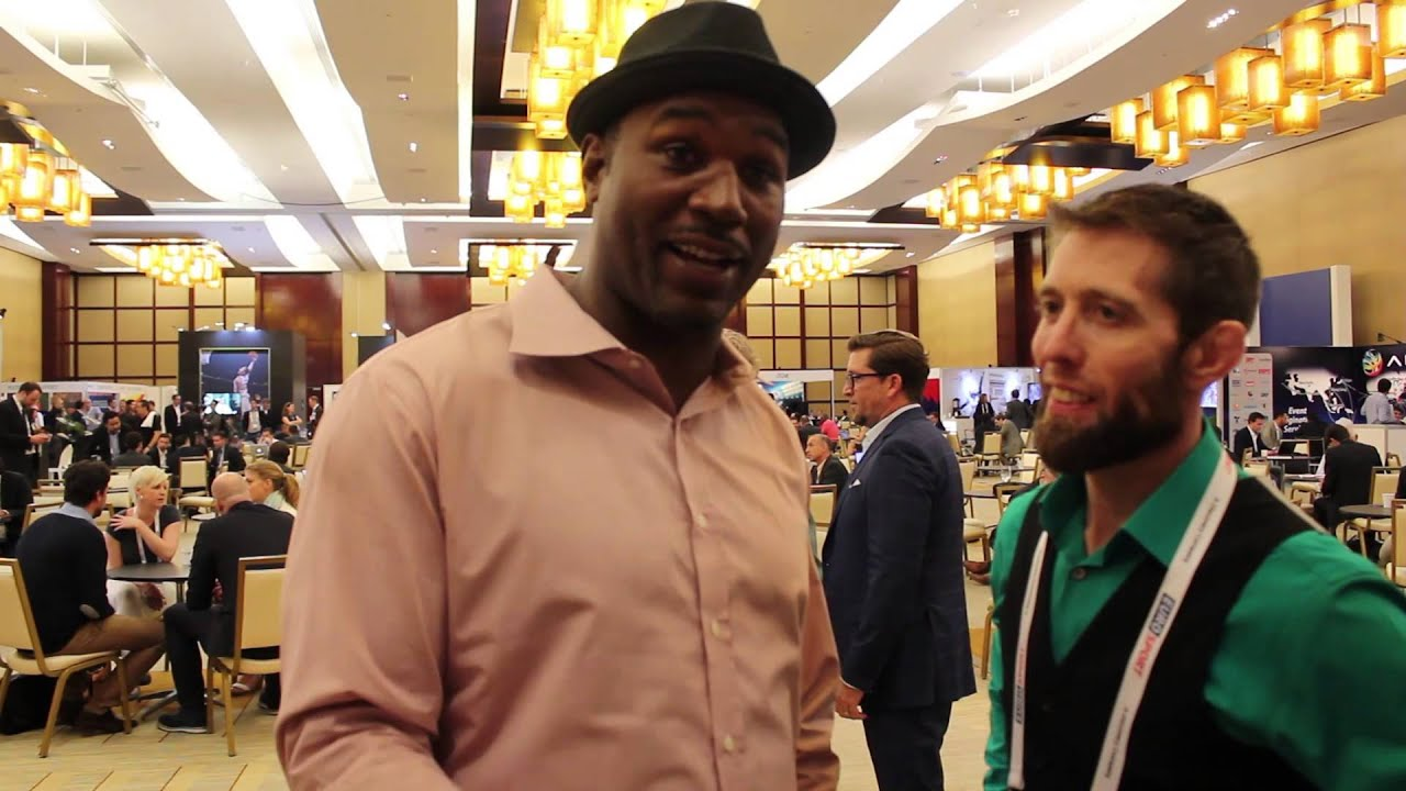 """Lennox Lewis on Arena Combat: """"If I was doing it  in my day, I would be the best at this too!!"""