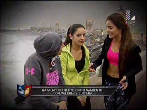 Natalia Malaga entrena fuerte a Valeria Florez y Luciana Fuster