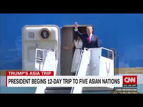 President Donald Trump begins 12-day Asia tour