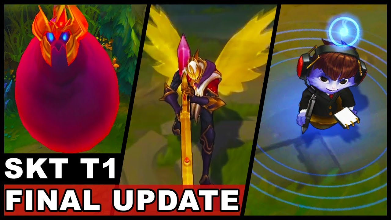 All New SKT T1 Skins Final Update Jhin Ekko Syndra Nami Olaf Zac (League of Legends)