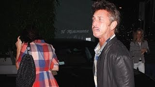 Sean Penn Spits On Photogs After Date With New Girlfriend [2011]