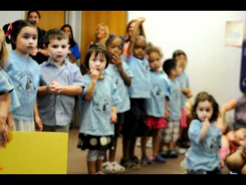 "Pre-school group sing ""Five little Ducks"" at Hudson Country Montessori School"