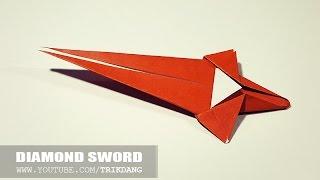 How to Make a paper Sword - Easy Origami Sword  - Diamond