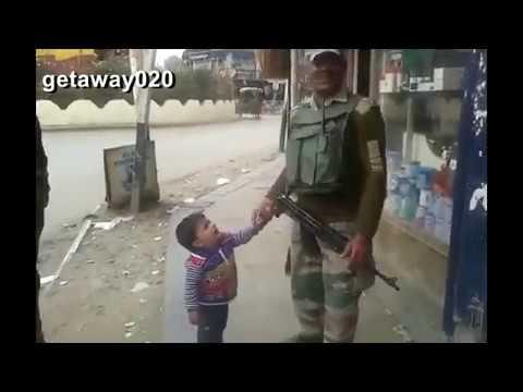 Funny Kashmiri Kid Asking Crpf | Me Dii Gun | Hahahah So Funny Must Watch This video