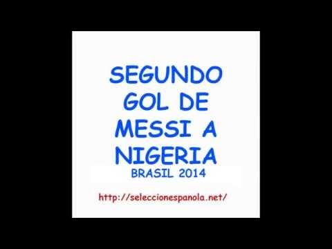 Gol de Messi de tiro libre de falta directa a Nigeria Brasil 2014