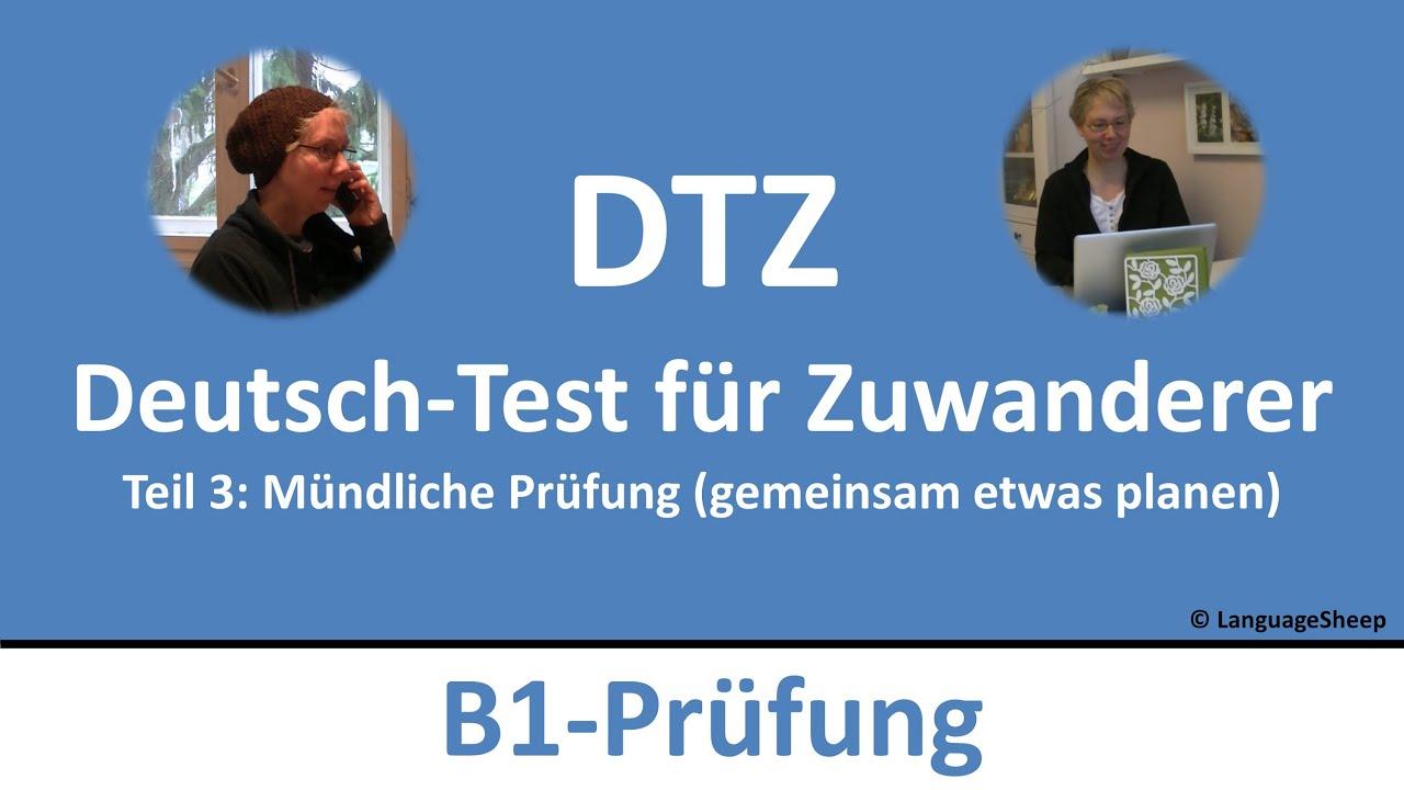 Musterbriefe Für B1 Prüfung : Deutsch lernen b prüfung dtz mündliche