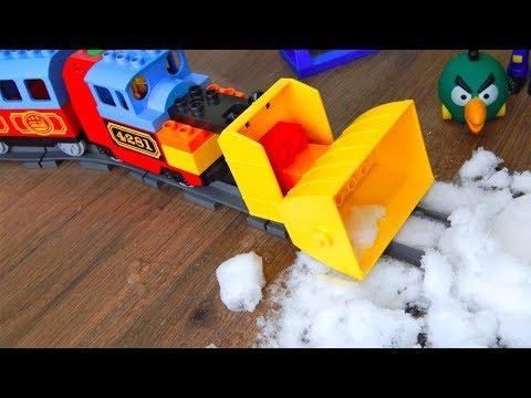 Машинки Мультики про Поезда мультфильм Город машинок 277: Снегопад. Видео для детей про игрушки
