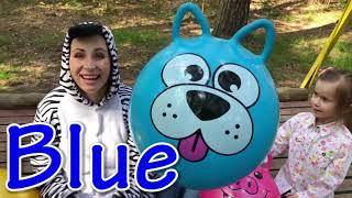 Kids play with ZEBRA Funny BALLS Kids Video Good Song for Kids JoyJoy Lika   YouTube