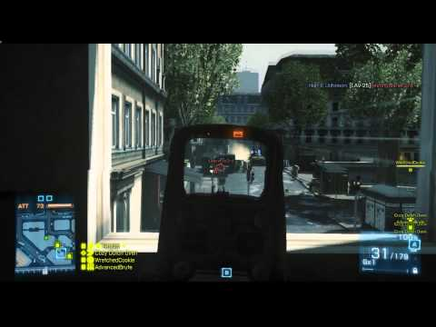 BF3 Live Squad Communication - Rush Defensive Game Play on Seine Crossing [Fets25] (Battlefield 3)