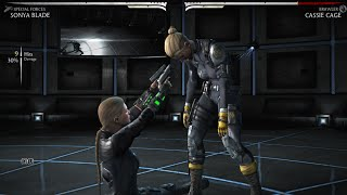 Mortal Kombat X - All Characters Performed Cassie Cage