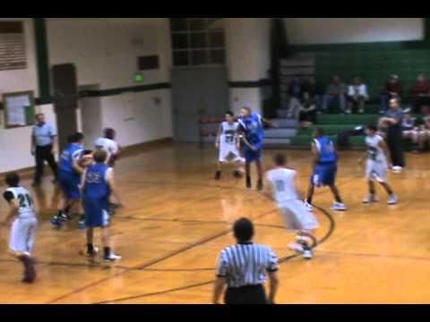 Roncalli Middle School Varsity Basketball  vs Corwin Varsity 10-27-11 - Entire Game