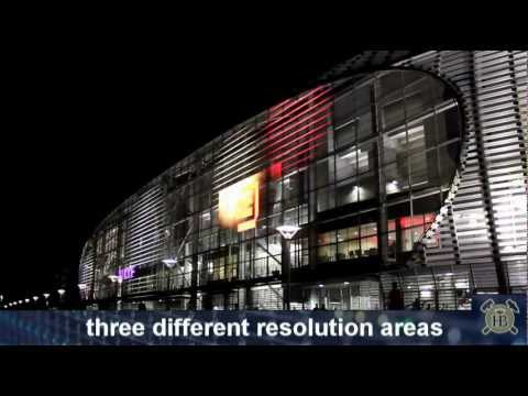 Media Facade IMAGIC WEAVE®. Stade Pierre Mauroy, Lille, France
