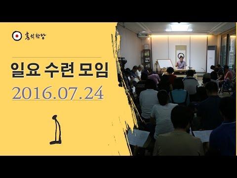 [홍익학당] 일요대담 : 신비현상과 영적성장, 욕심의 안내에 따른 사명 등(160724)_A356