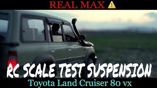 RC Suspension work Toyota land cruiser 80 4x4 scale model