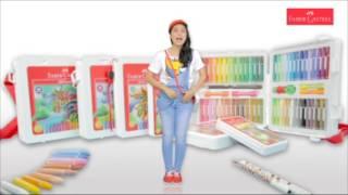 Faber Castell Crayon Oil Pastel Using Stencil Technique