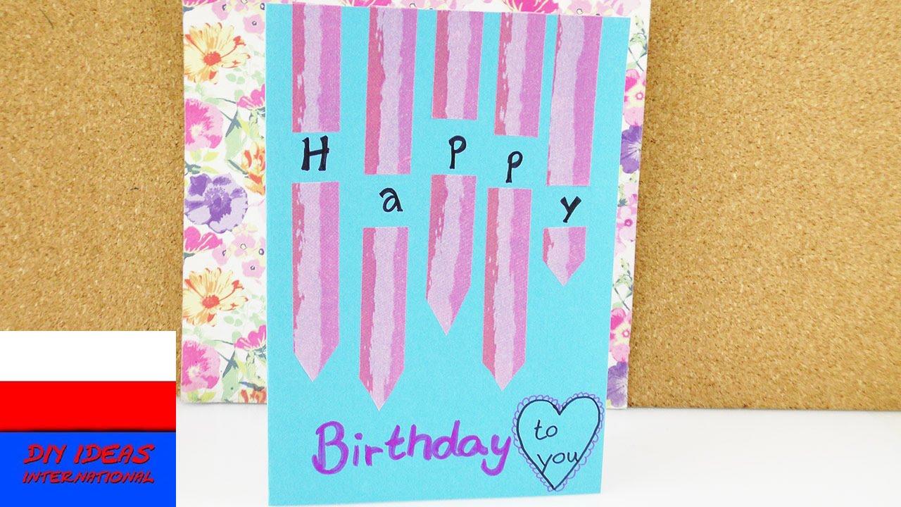 Urocza kartka urodzinowa z Washi Tape | prosty pomysł na kartkę
