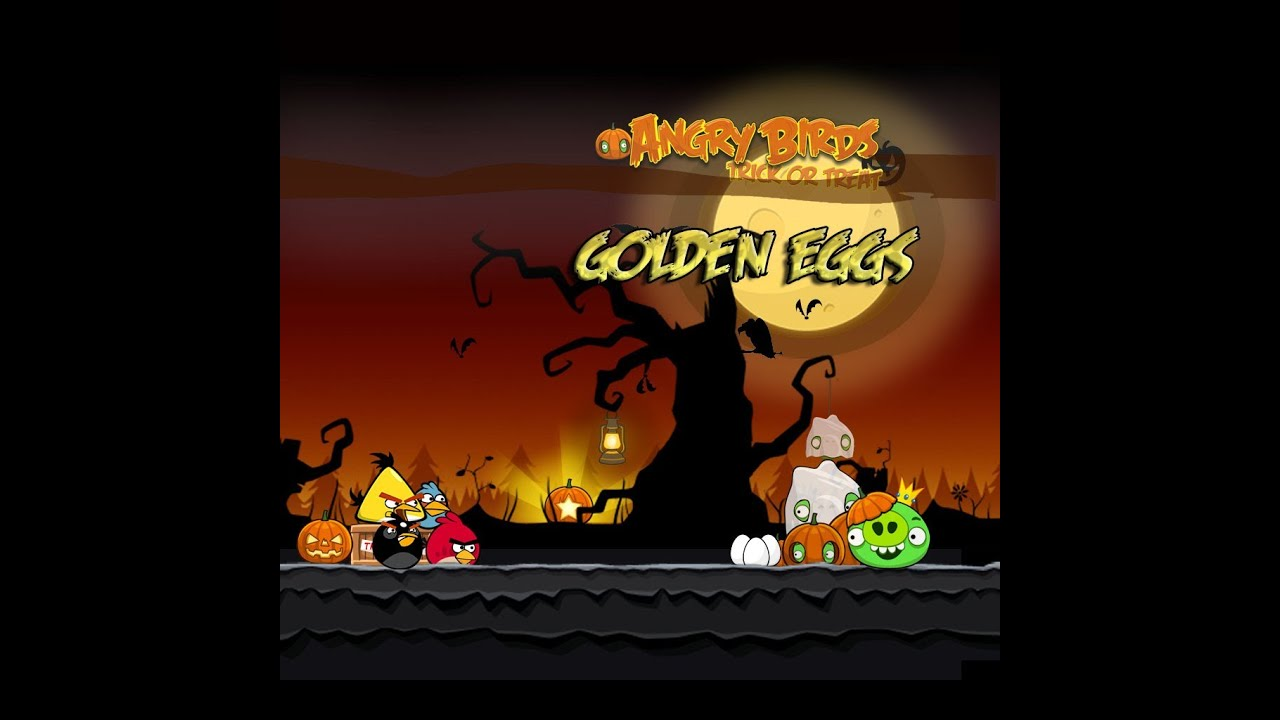 Angry birds seasons trick or treat golden eggs - Angry birds trio ...