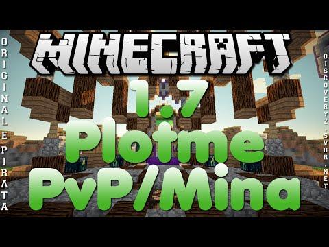 Divulgação de Server Minecraft 1.7 Plotme e PvP/Mina [Original e Pirata]