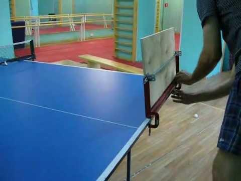 Возвратная доска для настольного тенниса своими руками