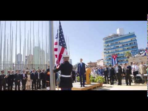 Kerry presides over raising of flag at US embassy in Cuba