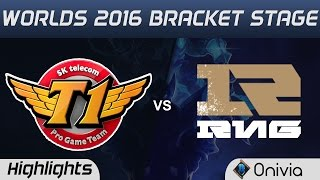 SKT vs RNG Highlights Game 1 Worlds 2016 Bracket Stage SK Telecom T1 vs Royal Never Give Up
