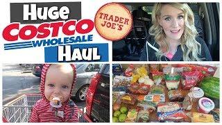 HUGE Costco + Trader Joe's HAUL || SHOP with ME Vlog