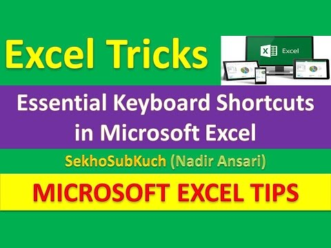 Essential Keyboard Shortcuts in Microsoft Excel : Excel Tips and Tricks [Urdu / Hindi]