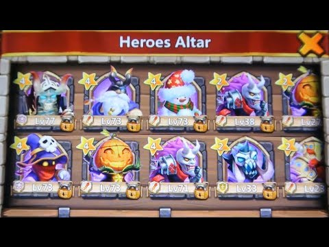 Castle Clash All Legendary Heroes
