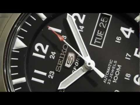 2S TIME - SEIKO SNZG13K1 Military Collection Automatic Black Dial Watch
