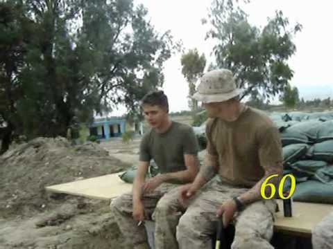 Marines scaring another Marine