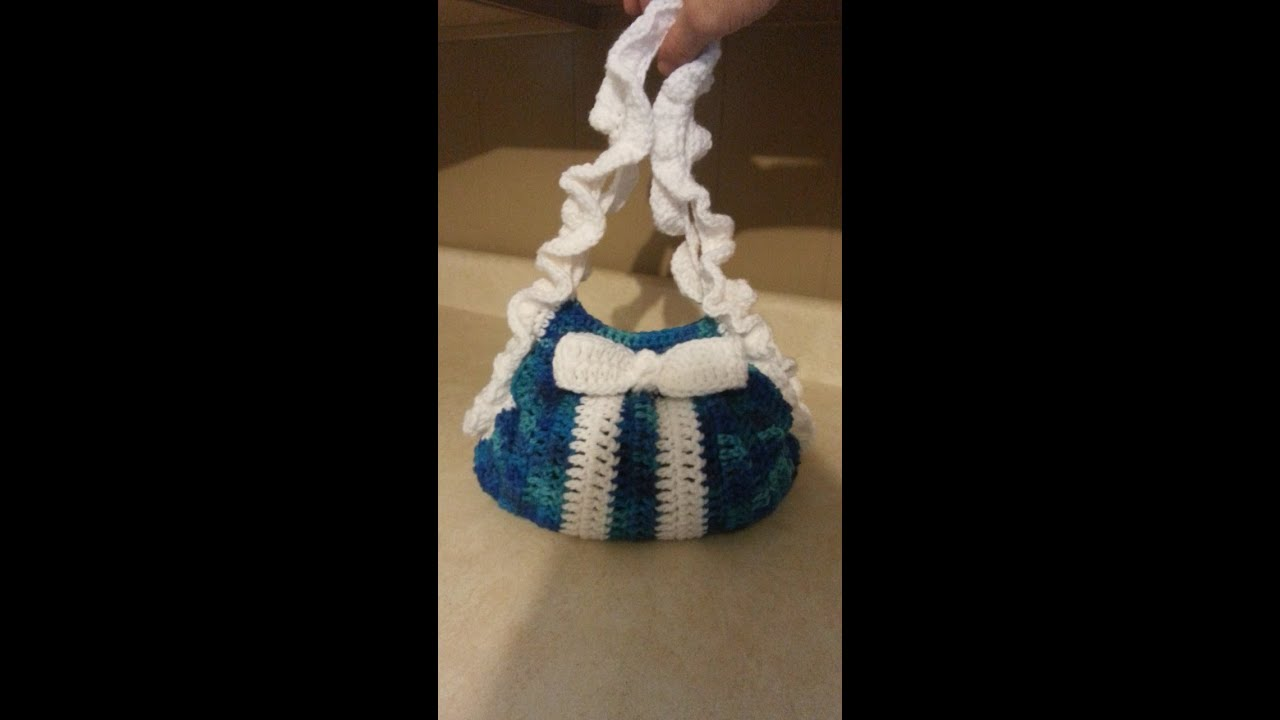 Crochet Bag Tutorial Youtube : Crochet handbag purse #TUTORIAL - YouTube