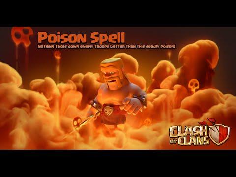 Clash of Clans - New Update! Dark Spell Factory + Poison Spell Gameplay (Sneak Peek)