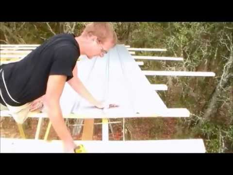 10 Of 13 Square A Sheet Metal Roof Wood Truss Building
