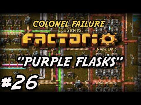 Factorio #26 : Purple flasks : solid fuel production : iron mine expansion