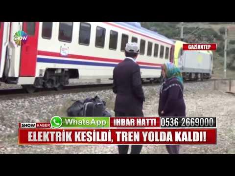 Elektrikler kesildi, tren yolda kaldı!