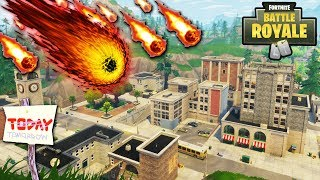 """NEW """"Tilted Towers"""" METEORS NOW LIVE! TILTED TOWERS DESTROYED TOMORROW!? NEW UPDATE! (Fortnite)"""
