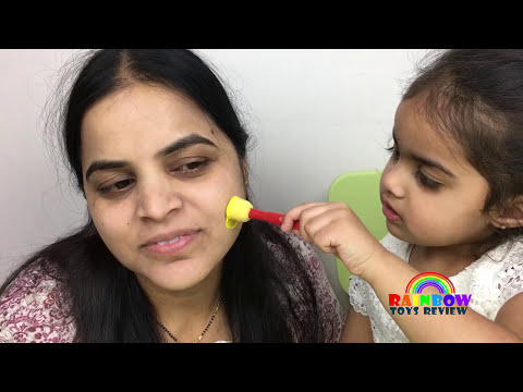 Baby & Mom Learn Colors Face Painting Finger Family Nursery Rhymes Colours Song for Kids, Children