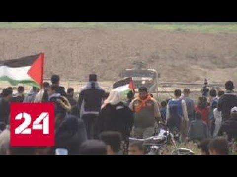 Во время беспорядков на границе Израиля с Сектором Газа погибли 15 палестинцев - Россия 24