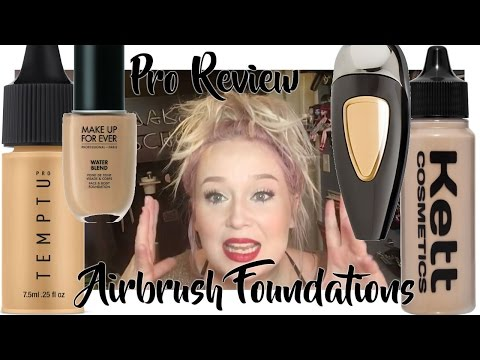 Airbrush Pro Review-Temptu SB. Hydra Lock. Water Blend. Kett Hydro