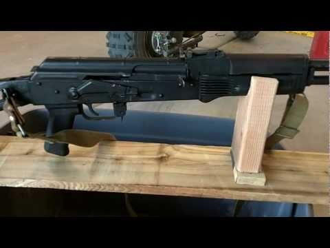 DIY AK-74 AK47 RIFLE REST - $1.00 RIFLE REST ULTIMATE TACTICAL FENCE BOARD 2X4
