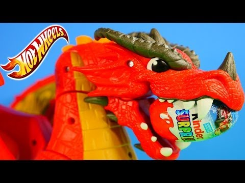 NEW Play Doh Surprise Eggs Hot Wheels Disney Pixar Cars 2 Kinder Surprise Toy Egg Dragon Track