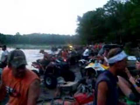 Texas Redneck Games Pond at Dusk.
