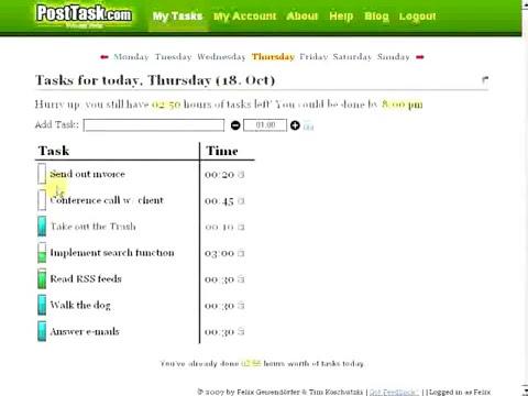 PostTask ScreenCast
