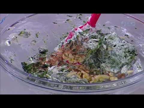 طريقة عمل بانيه بالجبنه والسبانخ على طريقة الشيف #ساره_عبدالسلام من برنامج #سنه_اولي_طبخ #فوود #