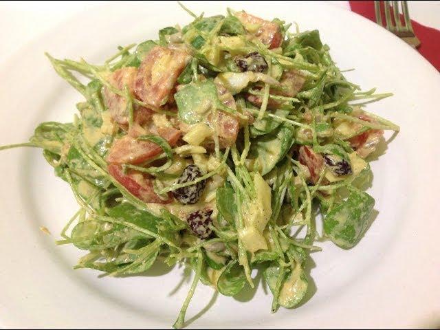 Turmeric Coconut Dressed Purslane ~ Live Salad