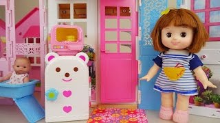 Baby doll house - Kitchen and bath toys play baby sitter
